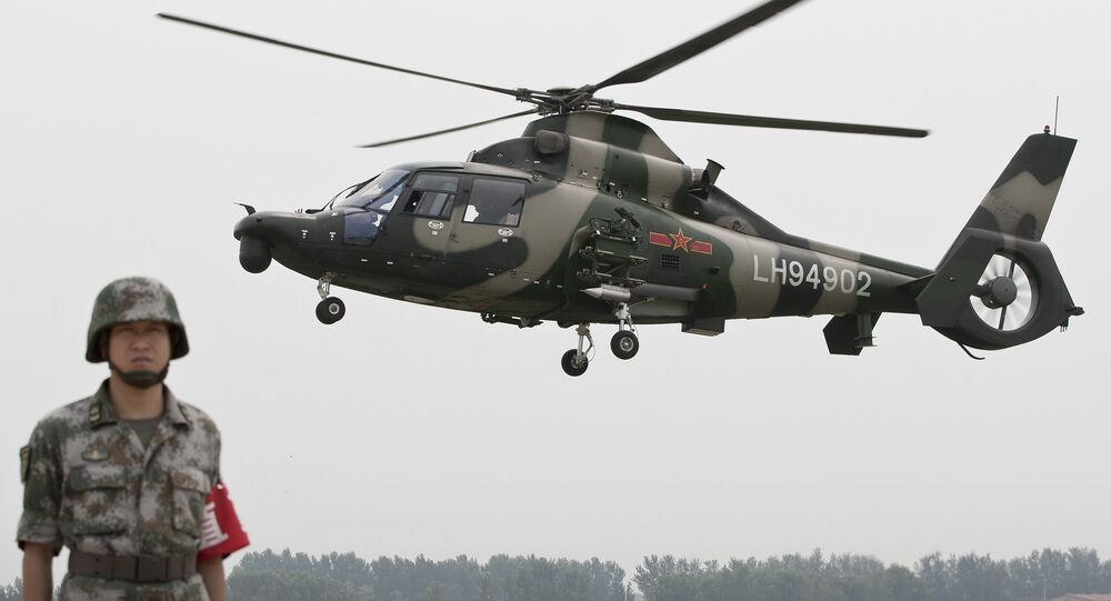 Chinese Army Z-9WZ attack helicopter (File)