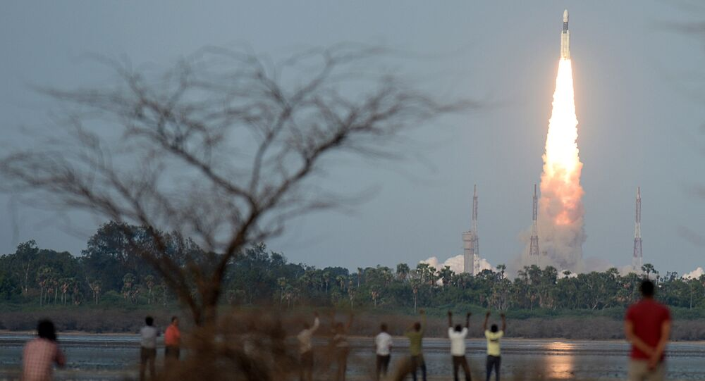 The Indian Space Research Organisation (ISRO) communication satellite GSAT-19, carried onboard the Geosynchronous Satellite Launch Vehicle (GSLV-mark III ), launches at Sriharikota on June 5, 2017