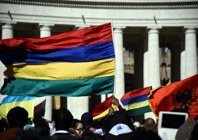 The national flag of Mauritius (File)