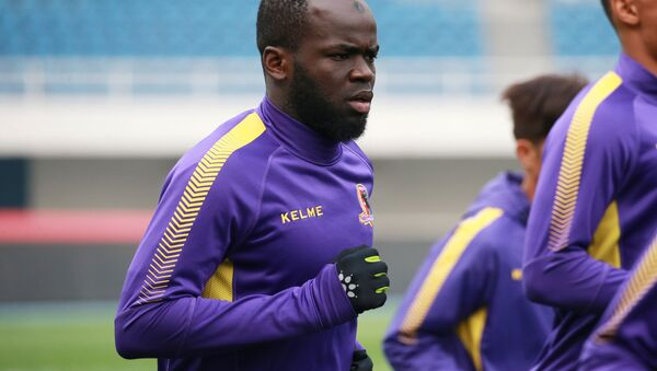 Former Ivory Coast international soccer player Cheick Tiote takes part in a training session of soccer club Beijing Enterprises in Beijing, China, April 7, 2017. - Sputnik International