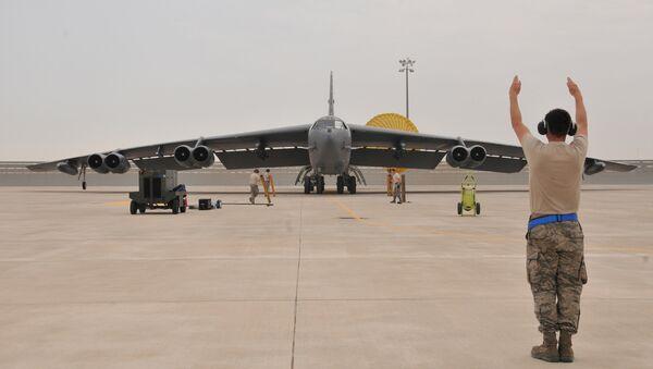 U.S. Air Force B-52 Stratofortress bomber arrives at Al Udeid Air Base, Qatar (File) - Sputnik International