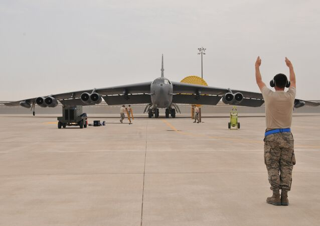 U.S. Air Force B-52 Stratofortress bomber arrives at Al Udeid Air Base, Qatar (File)