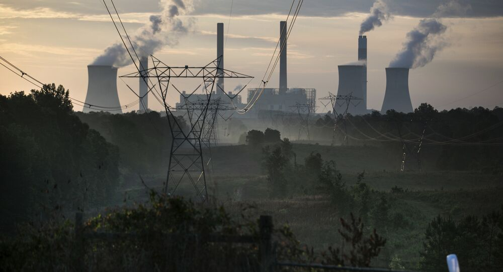 The coal-fired Plant Scherer, one of the nation's top carbon dioxide emitters, stands in the distance in Juliette, Ga., Saturday, June, 3, 2017. U.S. President Donald Trump declared Thursday he was pulling the U.S. from the landmark Paris climate agreement, striking a major blow to worldwide efforts to combat global warming and distancing the country from its closest allies abroad.