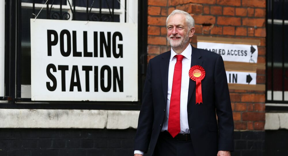 Jeremy Corbyn, leader of Britain's opposition Labour Party leaves after voting at a polling station in Islington, London, Britain, June 8, 2017.