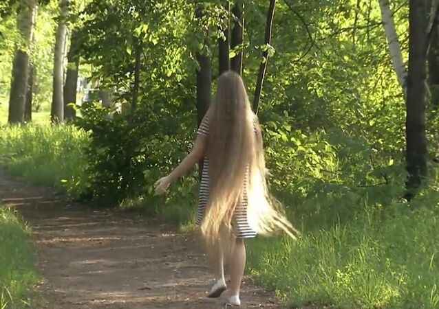 Rapunzel from Russia's Novosibirsk