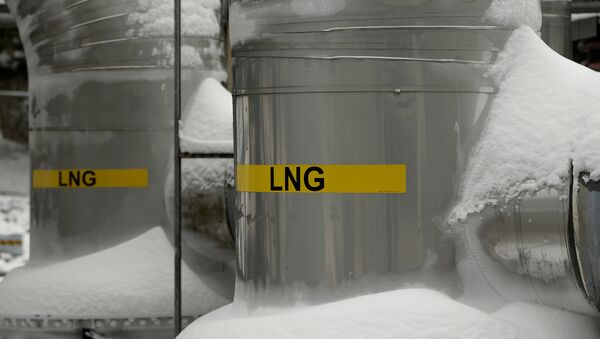 FILE PHOTO: Snow covered transfer lines are seen at the Dominion Cove Point Liquefied Natural Gas (LNG) terminal in Lusby, Maryland March 18, 2014. - Sputnik International