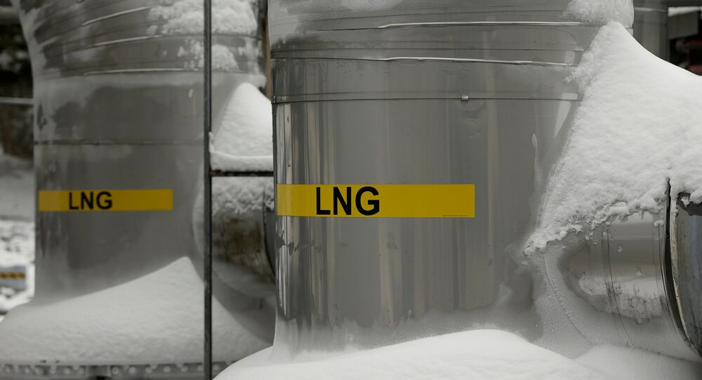 FILE PHOTO: Snow covered transfer lines are seen at the Dominion Cove Point Liquefied Natural Gas (LNG) terminal in Lusby, Maryland March 18, 2014.