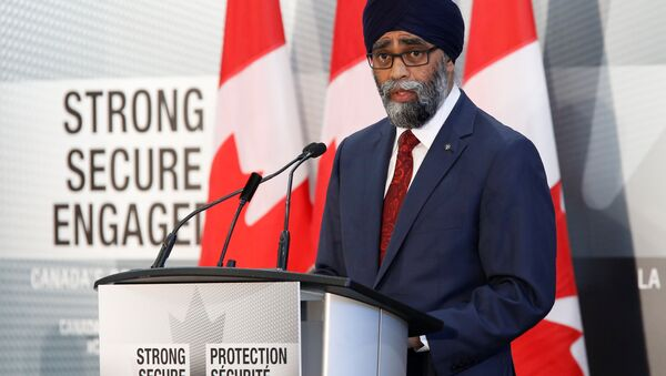 Canada's Defence Minister Harjit Sajjan speaks during a news conference announcing Canada's new defence policy in Ottawa, Ontario, Canada, June 7, 2017. - Sputnik International