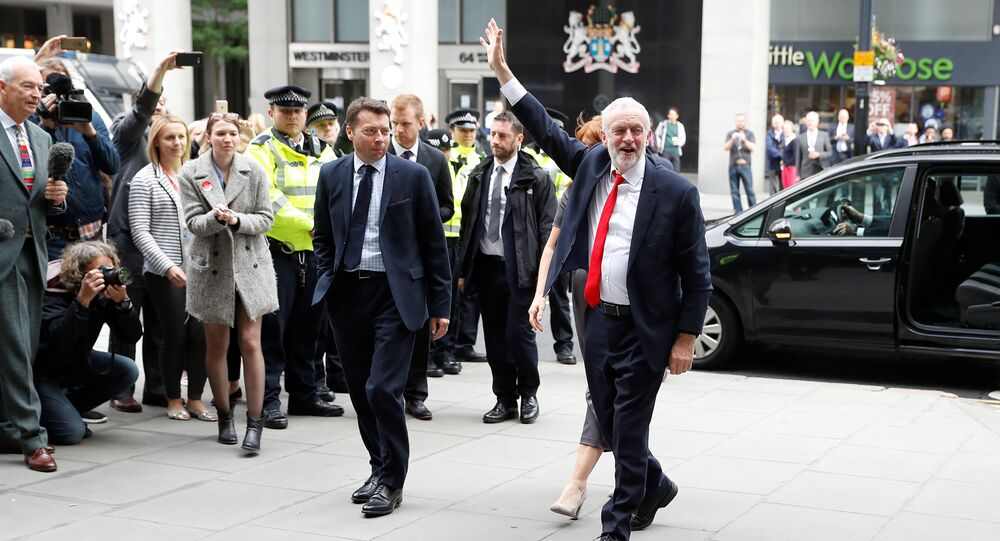 Jeremy Corbyn, leader of Britain's opposition Labour Party, arrives at the Labour Party's Headquarters in London, Britain June 9, 2017.