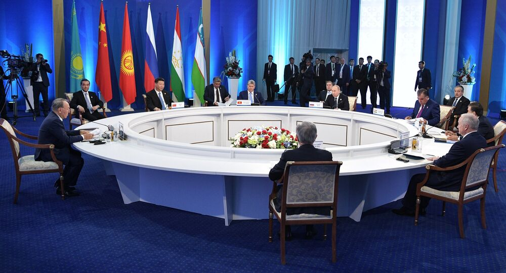 Meeting of the Council of Heads of State of the Shanghai Cooperation Organization (SCO).