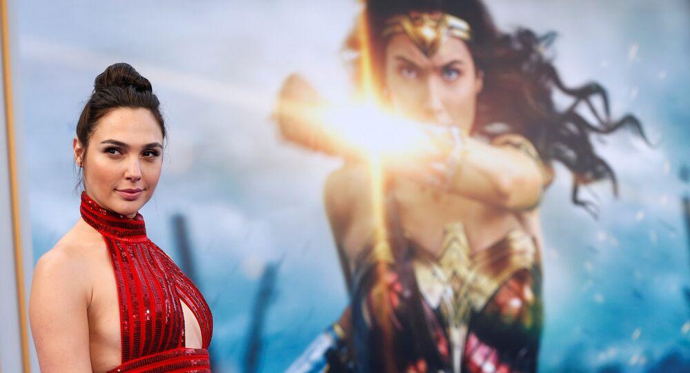 Cast member Gal Gadot poses at the premiere of Wonder Woman in Los Angeles, California U.S.