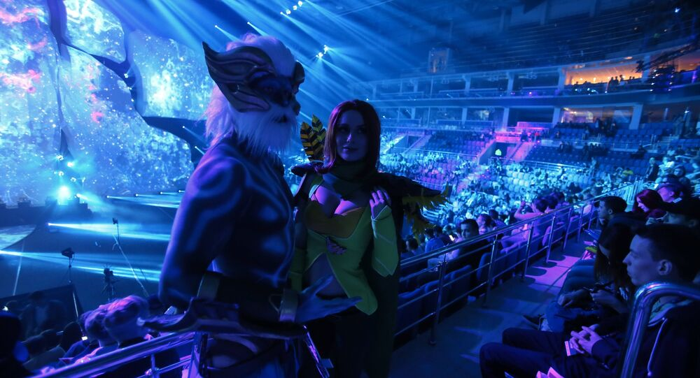Cosplay contestants at EPICENTER: Dota 2 tournament