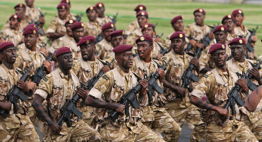 Qatari army forces take part in a military parade during the Gulf emirate's National Day celebrations in Doha. (File)