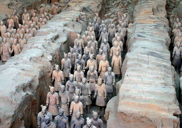 The 2,000-year-old terracotta army at the Qin Terracotta Warriors and Horses Museum, in Xian, central China's Shaanxi province. (File)