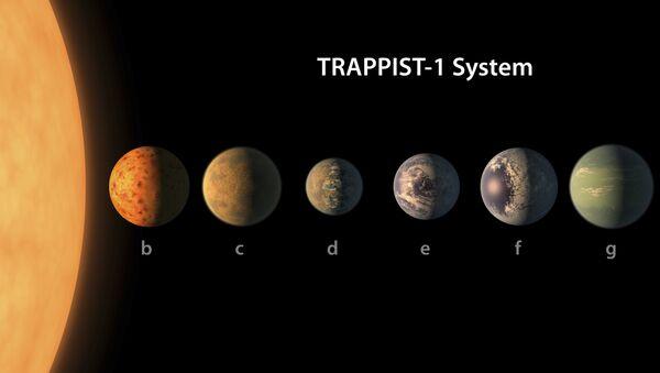 Artist's conception of the TRAPPIST-1 planetary system. (File) - Sputnik International