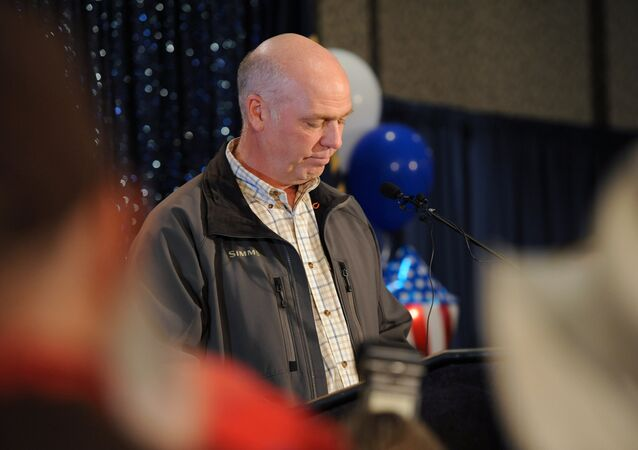 Representative elect Greg Gianforte apologizes for becoming invoved in an altercation with a reporter less than 24 hours before the special congressional election during his victory speech in Bozeman, Montana May 25, 2017