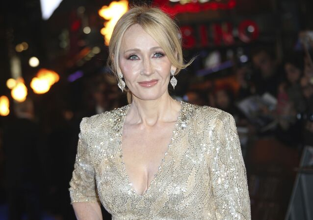 Author J.K. Rowling poses for photographers upon arrival at the premiere of the film 'Fantastic Beasts And Where To Find Them' in London, Tuesday, Nov. 15, 2016.