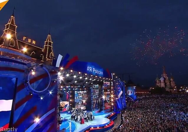 Russia Day Marked With Fireworks