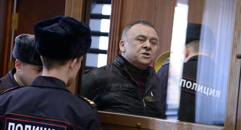 Lom-Ali Gaitukayev, a defendant in Novaya Gazeta columnist Anna Politkovskaya murder case, during a hearing in the Moscow City Court. File photo