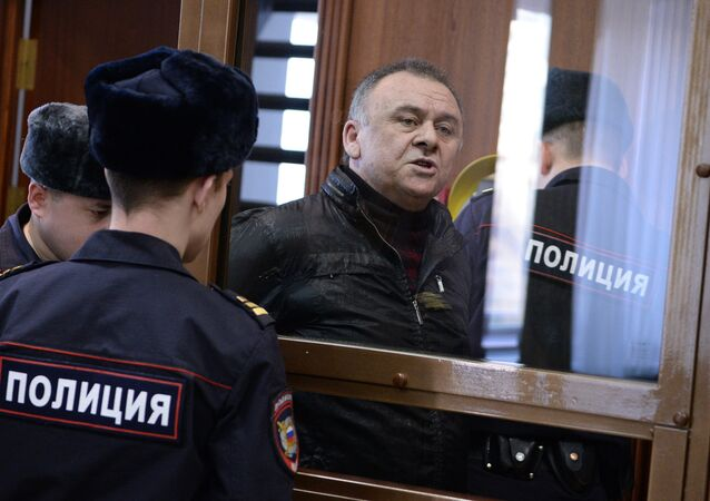 Lom-Ali Gaitukayev, a defendant in Novaya Gazeta columnist Anna Politkovskaya murder case, during a hearing in the Moscow City Court. File photo