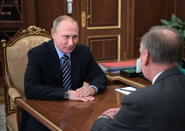 President Putin meets with Russia's Security Council Secretary Patrushev