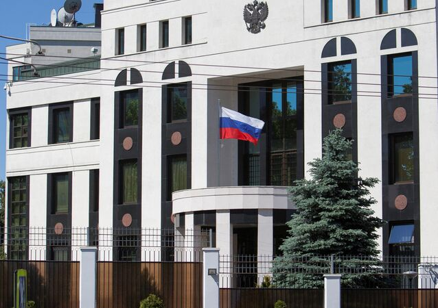 A general view shows the Embassy of Russia in Chisinau, Moldova May 30, 2017