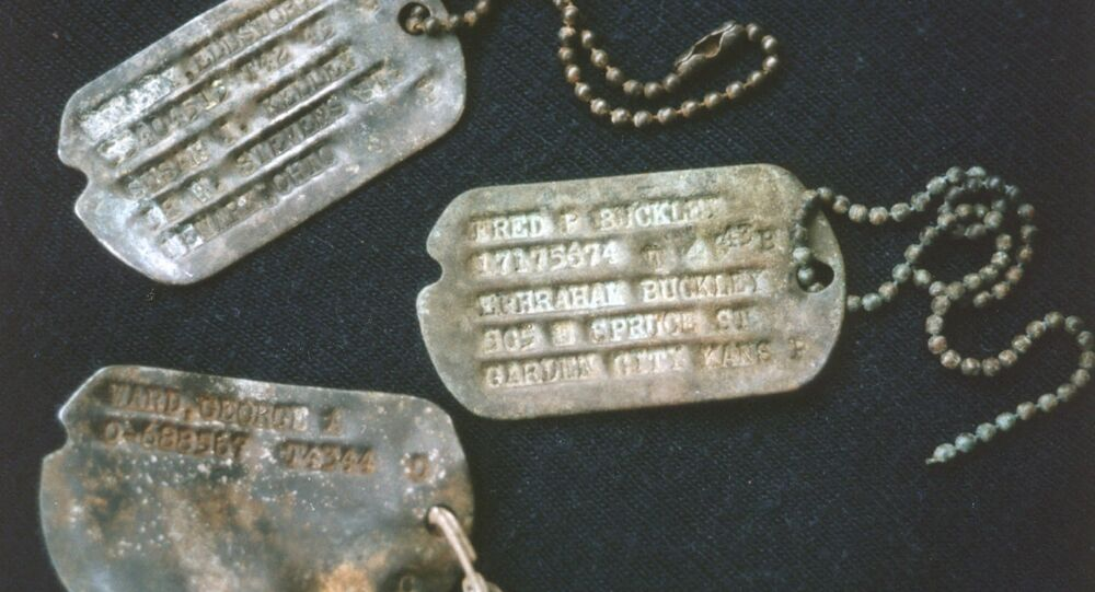Dog Tags of US Lost Bomber from World War II
