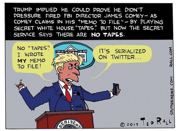 Secret Service Trump Tapes Cartoon