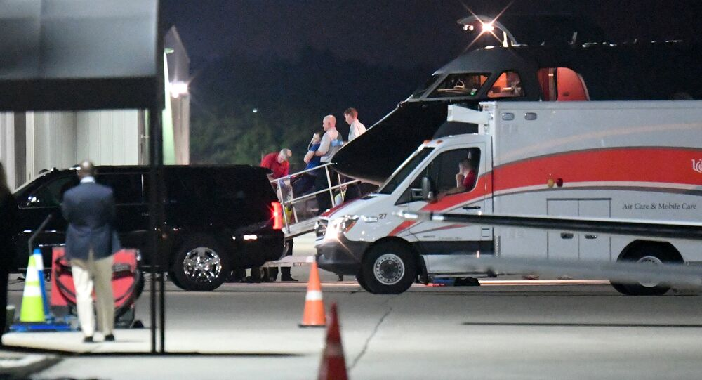 A person believed to be Otto Warmbier is transferred from a medical transport airplane to an awaiting ambulance at Lunken Airport in Cincinnati, Ohio, U.S., June 13, 2017