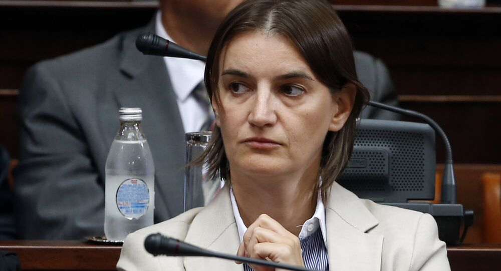 Ana Brnabic attends a parliament session in Belgrade, Serbia (File)