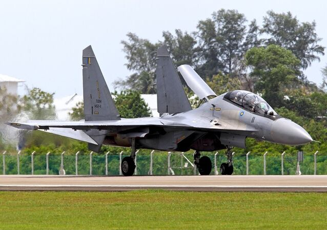 Sukhoi Su-30MKM, a variant only used by the Royal Malaysian Air Forces.