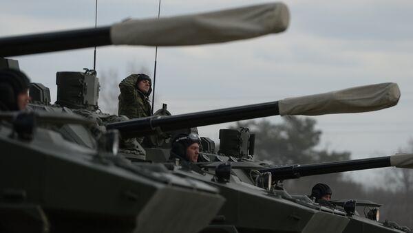 A BMD-4M airborne assault is at Alabino base. (File) - Sputnik International
