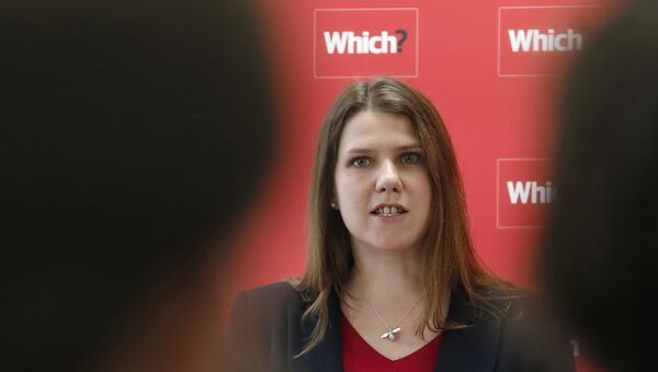 Jo Swinson during a news conference about the consumer payday loan market in London March 6, 2013.  - Sputnik International