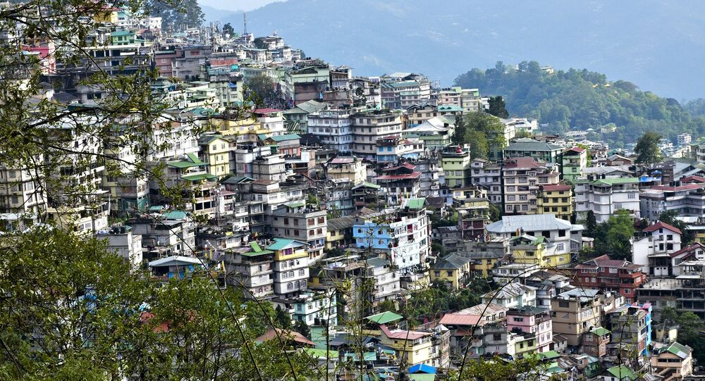 General view of Gangtok in the north-eastern Indian state of Sikkim