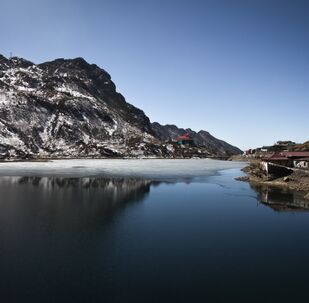General view of Tsomgo Lake in the north-eastern Indian state of Sikkim