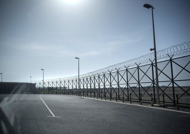 Fencing on the closed border between Qatar and Saudi Arabia