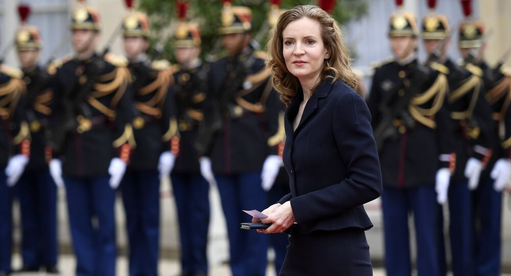 French MP for the right-wing Les Republicains (LR) party Nathalie Kosciusko-Morizet arrives at the Elysee presidential Palace to attend Emmanuel Macron's formal inauguration ceremony as French President