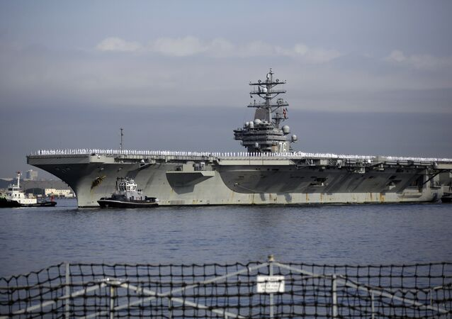 U.S. navy nuclear-powered aircraft carrier USS Ronald Reagan. (File)