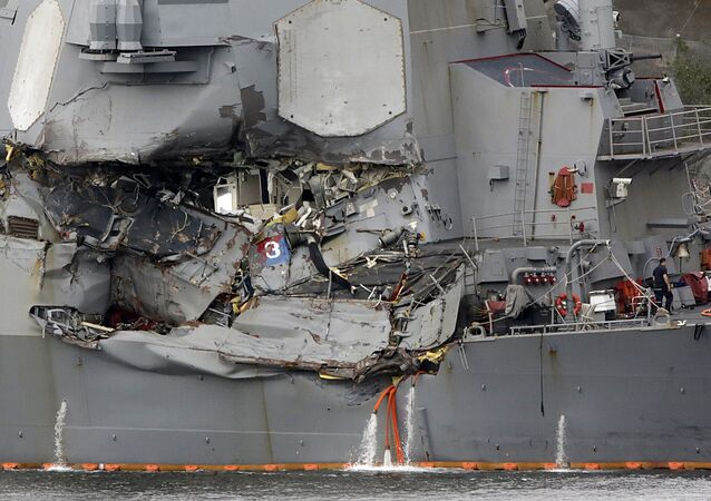 USS Fitzgerald after collision