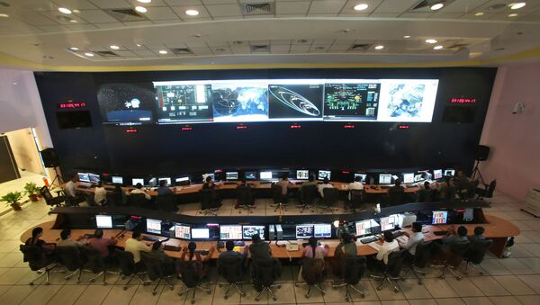 Indian Space Research Organization (ISRO) scientists and engineers monitor the movements of India's Mars orbiter at their Spacecraft Control Centre in Bangalore, India (File) - Sputnik International