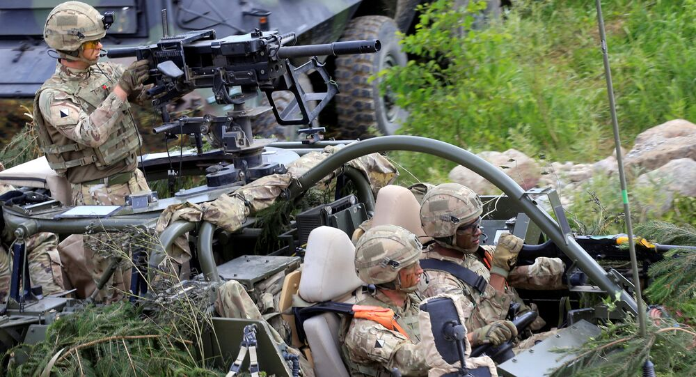 U.S. Army soldiers attend the 2017 Iron Wolf exercise in Stasenai, Lithuania, June 20, 2017