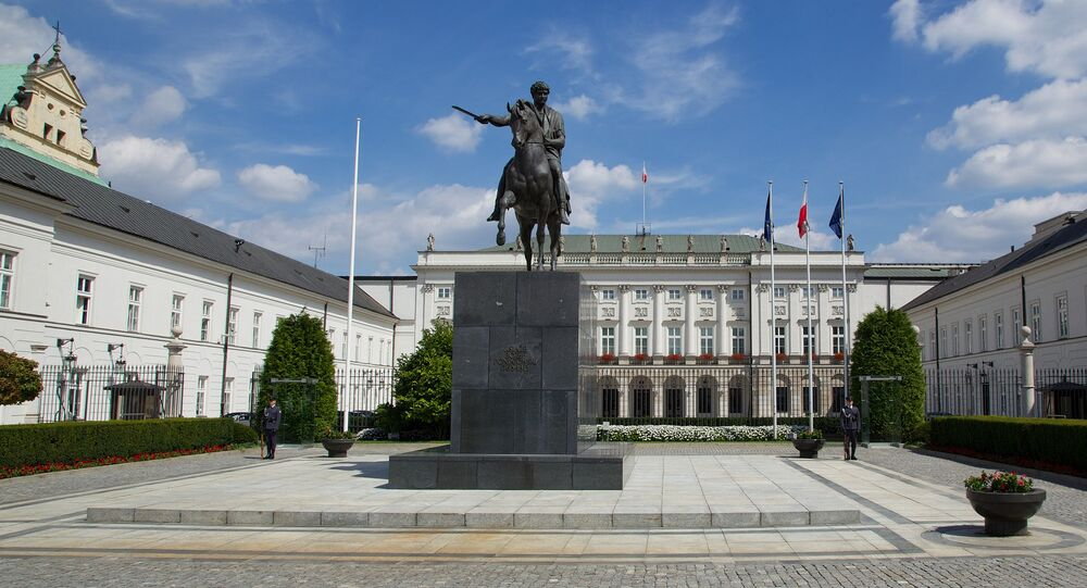 Presidential palace in Warsaw