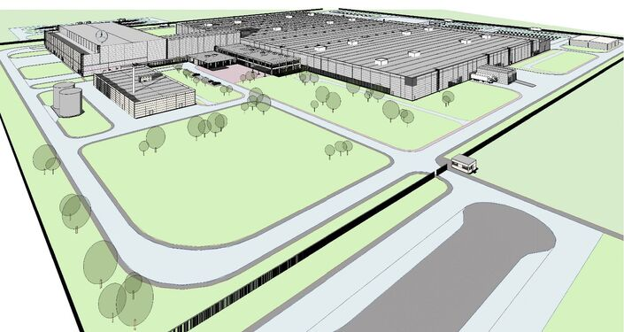 Plan of the new car plant close to Moscow