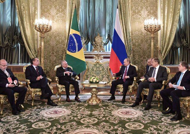President Vladimir Putin holds official meeting with Brazilian President Michel Temer