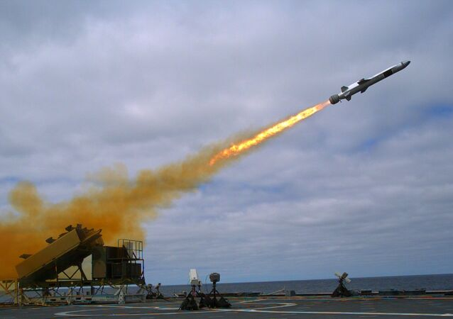 Naval Strike Missile launch