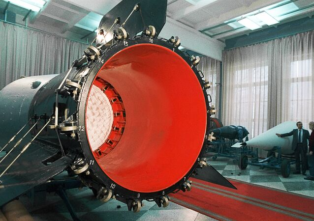 A Soviet hydrogen bomb in a museum