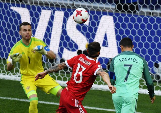 Football. 2017 FIFA Confederations Cup. Russia vs. Portugal