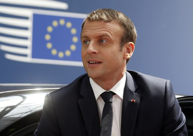 French President Emmanuel Macron arrives for an EU summit in Brussels on Thursday, June 22, 2017