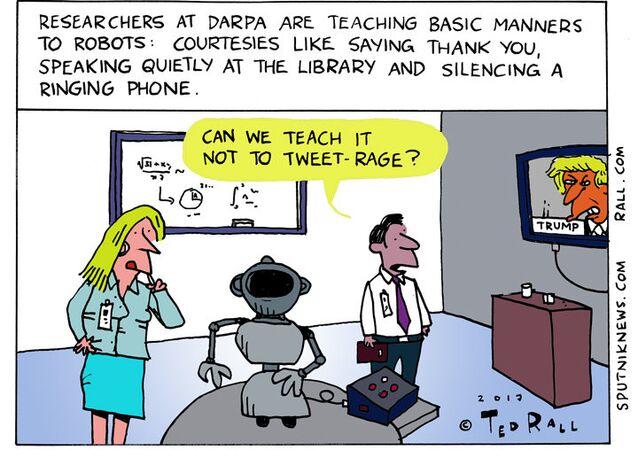 Robot Manners Cartoon