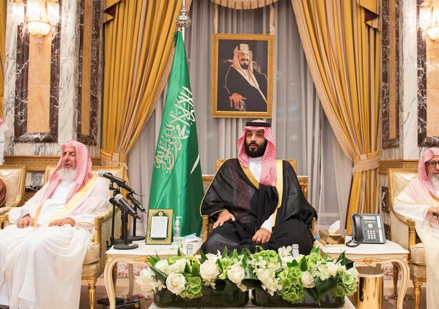 Saudi Arabia's Crown Prince Mohammed bin Salman sits during an allegiance pledging ceremony in Mecca, Saudi Arabia June 21, 2017